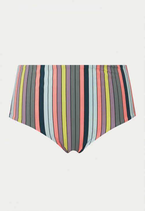 Vysoké plavkové kalhotky v moderním proužku