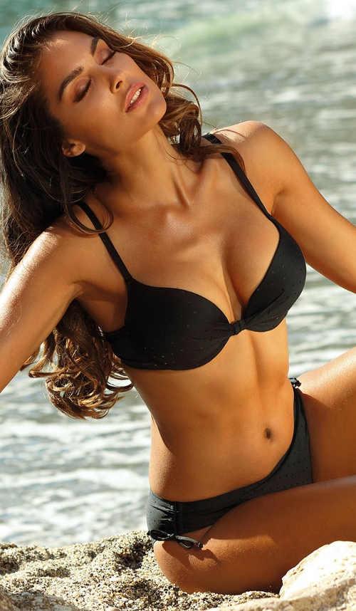 Černé dámské dvoudílné plavky Astratex výprodej