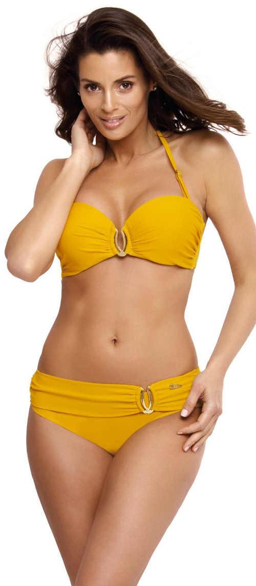 Žluté dámské dvoudílné plavky Marko Cameron Rabat
