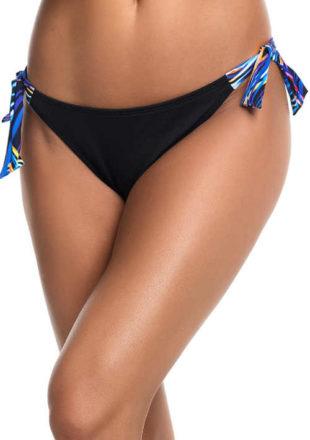 Elegantní černé plavkové kalhotky nízký střih