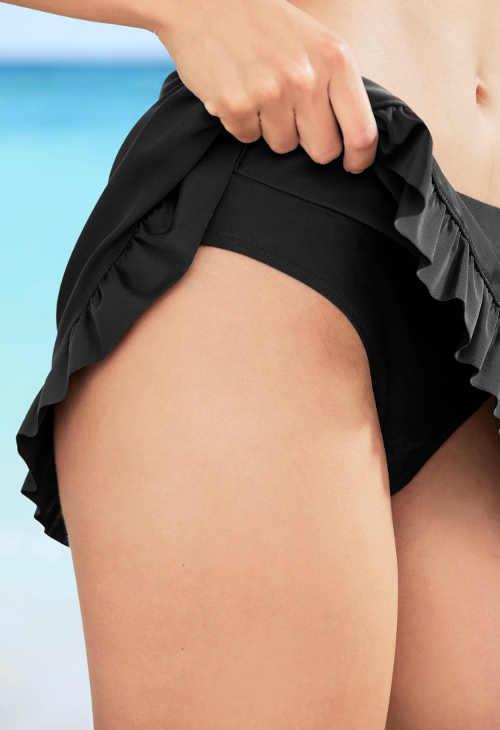 Dámské plavkové kalhotky s volánkovou sukní