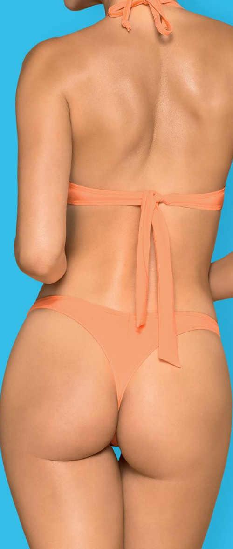 Dámské tanga plavky v tělové barvě