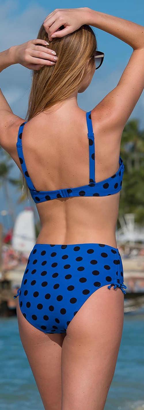 Dvoudílné plavky pro plnoštíhlé Naturana Polka Dots
