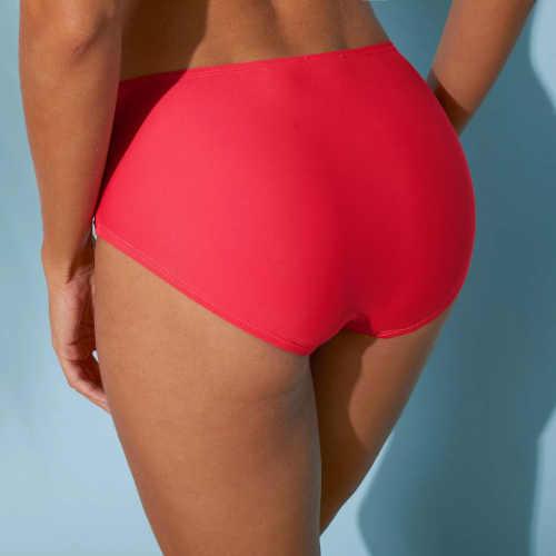 vysoké plavkové kalhotky se zeštíhlujícím efektem