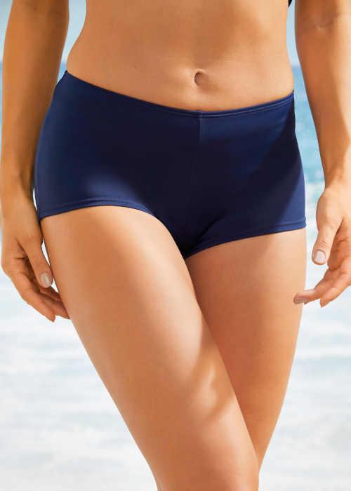 Dámské plavkové bokové kalhotky v tmavě modré barvě