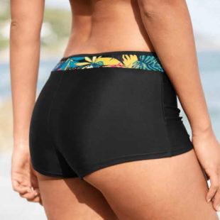 Dámské plavkové boxerky s efektem plochého bříška