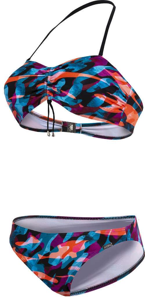 dámské barevné plavky sportovního střihu