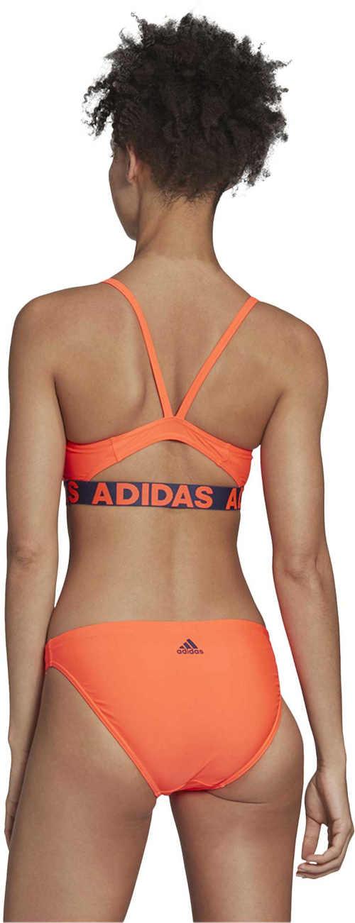 oranžové dvoudílné sportovní plavky adidas