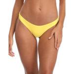 Dámské brazilkové plavkové kalhotky v žlutém provedení