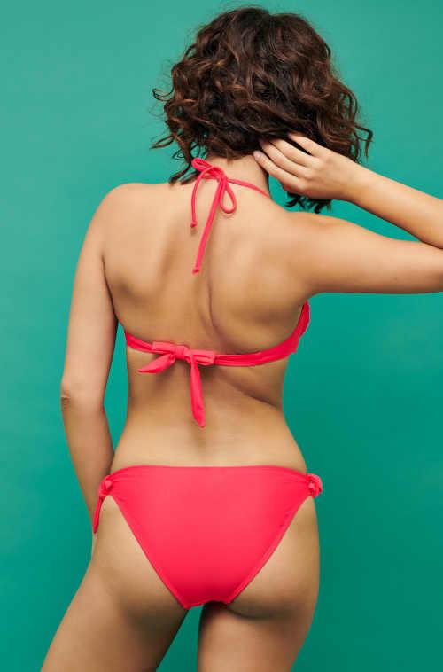 červené dámské dvoudílné plavky