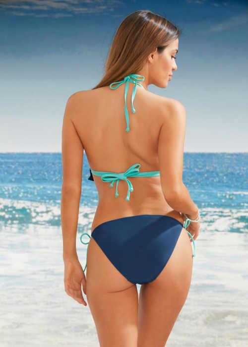 modré dámské dvoudílné plavky